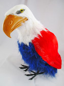 ARTIFICIAL BIRD, Bald Eagle, Red, White and BLUE, 10 inch per each