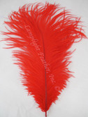RED OSTRICH FEATHER, LONG, per each