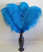 Turquoise Ostrich feather, long ostrich feather