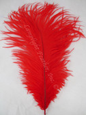 RED OSTRICH Feathers, STANDARD, 12-16 inch, per EACH