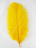 OSTRICH FEATHERS, MINI, GOLD, per 4