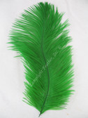 OSTRICH FEATHERS, MINI, GREEN, per 4