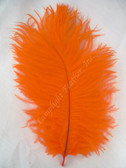 OSTRICH FEATHERS, MINI, ORANGE, per 4