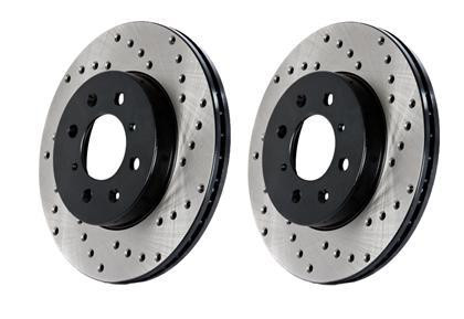 StopTech Cryo-SportStop Drilled Rotor (Rear Pair) (Mk4) -