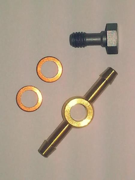 Injector banjo fitting bolt and washers ve
