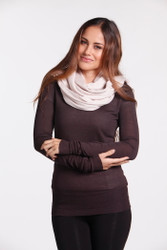 Bamboo Body Lightweight Bamboo Cashmere Wool Travel Wrap - Oatmeal