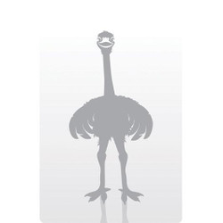 Personalised Luggage Tag - Ostrich