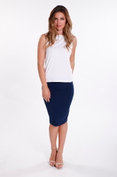 Bamboo Body Bamboo Tube Skirt - Navy