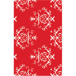 Personalised Luggage Tag - Red Baroque
