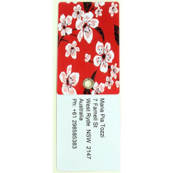 Personalised Luggage Tag - Red Flowers