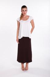 Bamboo Body Long Bamboo Skirt - Black