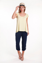 Bamboo Body Pocket Pants - Navy