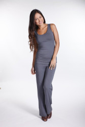 Bamboo Body Ruched Singlet - Grey