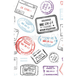 Personalised Luggage Tag - Stamps