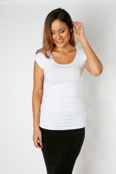 Bamboo Body The Ruched Bamboo Tee - White