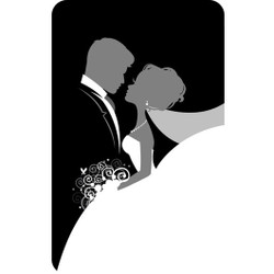 Personalised Luggage Tag - Classic Bride and Groom