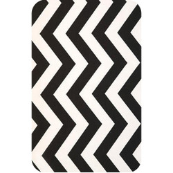 Personalised Luggage Tag - Chevron Black and White
