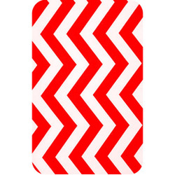 Personalised Luggage Tag - Chevron Red and White