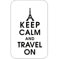 Personalised Luggage Tag - Keep Calm and Travel On - White