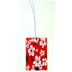 Personalised Luggage Tag - Keep Calm Your Own Message - Red
