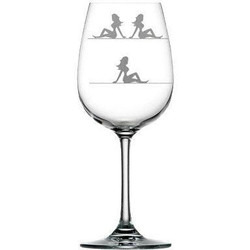 For Love of Wine Glass: Mud Flap Girls