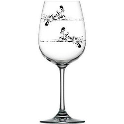 For Love of Wine Glass: Graffiti Floral