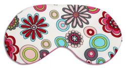 Chris Notti Silk Sleep Mask: Floral Rose with Earplugs
