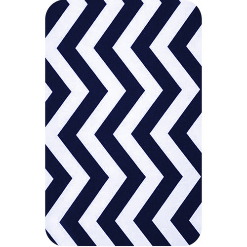 Personalised Luggage Tag - Chevron Navy and White