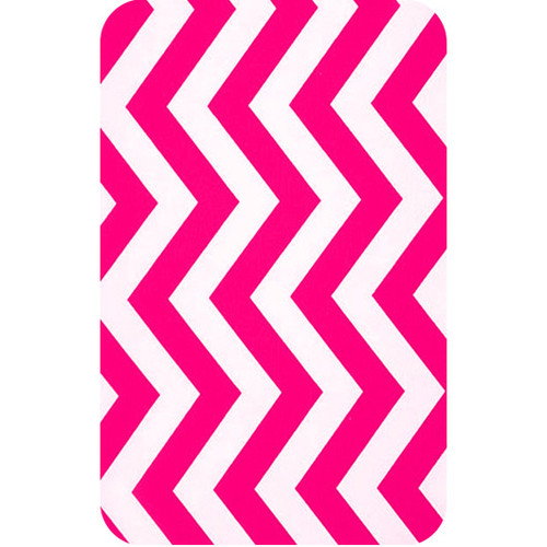 Personalised Luggage Tag - Chevron Pink and White