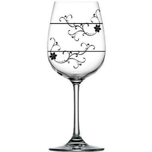 For Love of Wine Glass: Divine Floral Vine