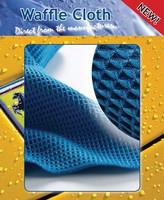 Paragon Microfibre Premium Waffle Weave Drying Towel 300gsm 60x80cm Blue
