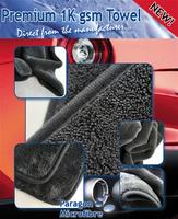 Paragon Microfibre Premium Super Plush Towel 1000gsm 40x40cm Grey