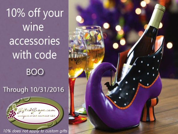 10% off wine accessories at GiftedGrape.com