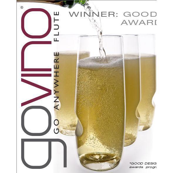 GoVino Champagne Flutes