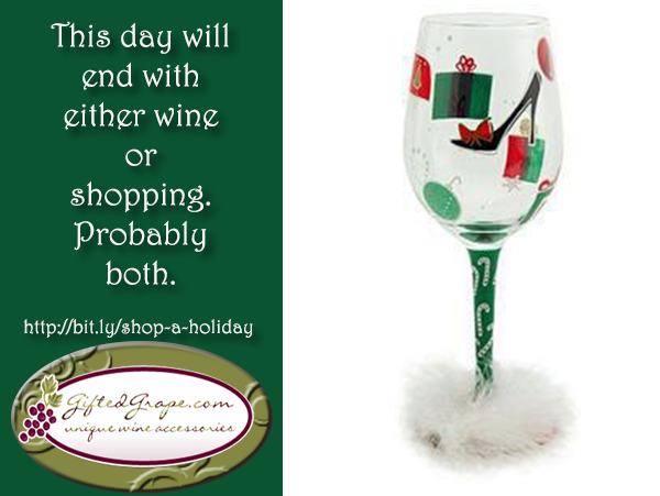Shop A Holiday Wine Glass