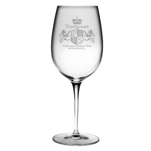 Etched Bordeaux Wine Glass with Custom Logo
