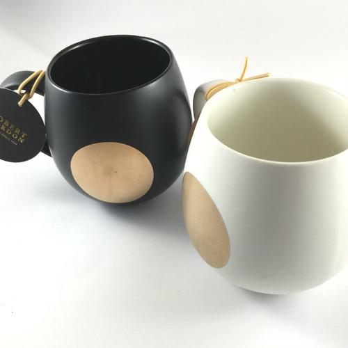 Robert Gordon - Moon Mug Pair Black and White Moon Mugs shown