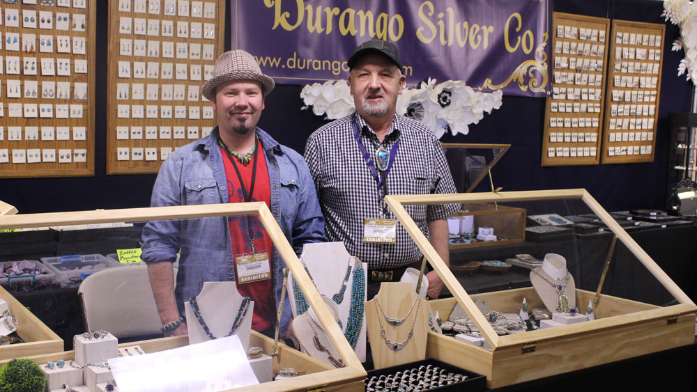 Dillon and John Hartman at the 2017 Tucson Gem Show
