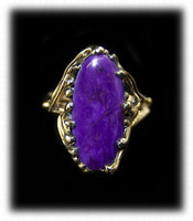 Contemporary Womens Gold and Sugilite Ring