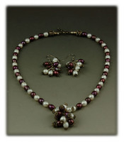 Fashion Pearl Bead Necklace Set