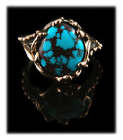 American Turquoise and Gold Ring