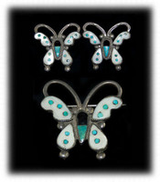 Zuni Inlay Butterfly Set
