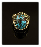 Egyptian Turquoise Gold Nugget Ring