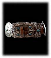 Vintage Navajo Concho Belt