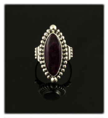 Purple Spiny Oyster Shell Marque Ring