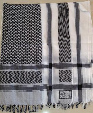 Black & White Palestinian Shemagh Scarfs