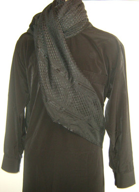 Black on Black Shemagh Scarf