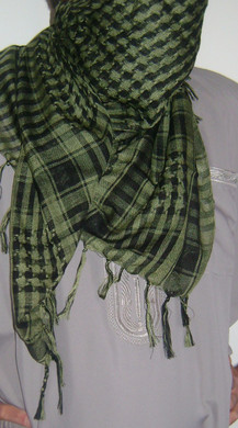 Army Green with Tassels Shemagh Scarf