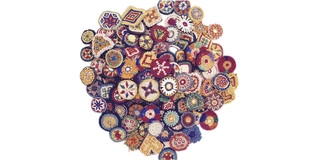 Small Kuchi Afghan Tribal Beaded Dress Medallion 50 Wholesale lot Medals Dance