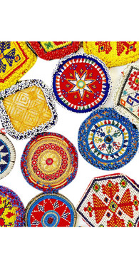 Large  Kuchi Afghan Tribal Beaded Dress Medallion 30 Wholesale lot Medals Dance